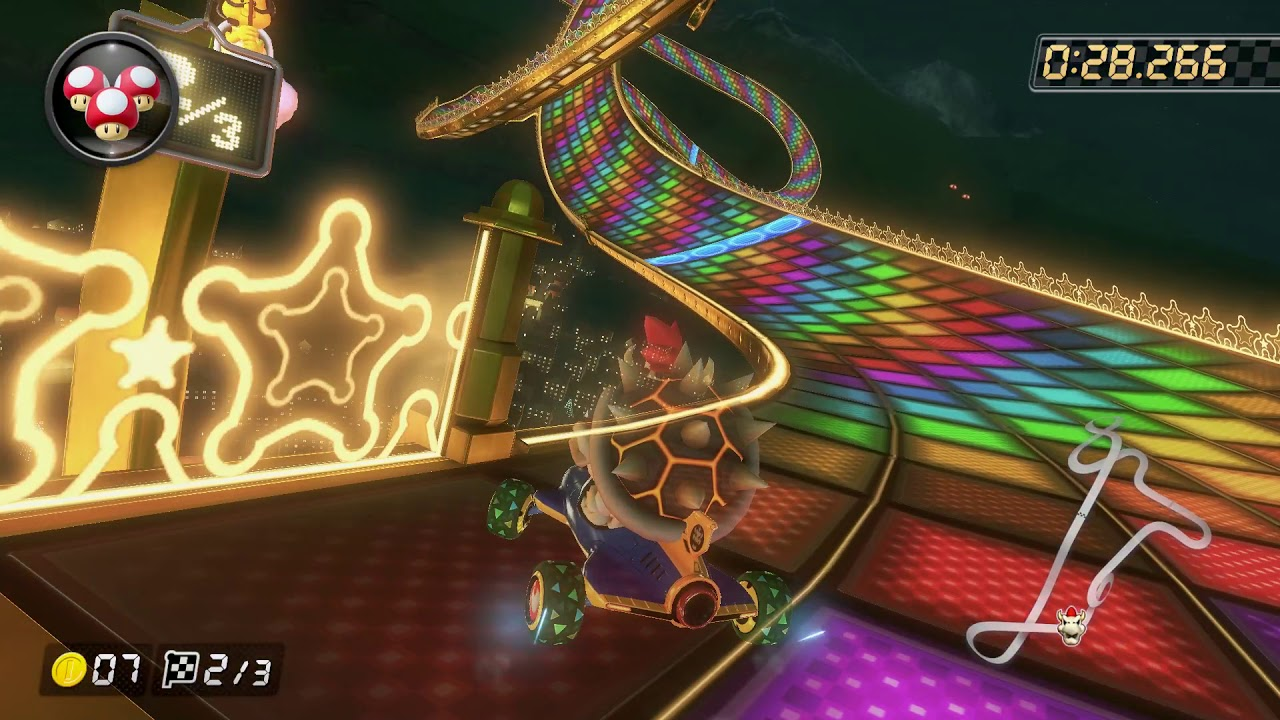 N64 Rainbow Road [150cc] - 1:20.257 - Vincent (Mario Kart 8 Deluxe World Record)