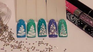 Новогодний дизайн! МК💅 Самые простые ёлочки😍! Nail art.