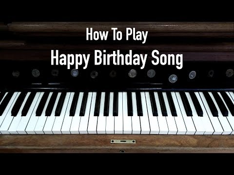 Happy Birthday on piano | Learn with Notation