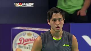 Danisa Denmark Open 2017 | Badminton SF M5-MS | Wong Wing Ki Vincent vs Kidambi Srikanth