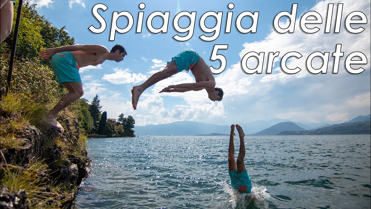 Acqua cristallina a pochi passi da Varese - Spiaggia delle 5 arcate [Castelveccana]