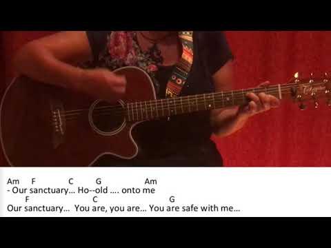 Sanctuary- Welshly Arms / Guitar/Tutorial/Cover/Chords/Lyrics/easy