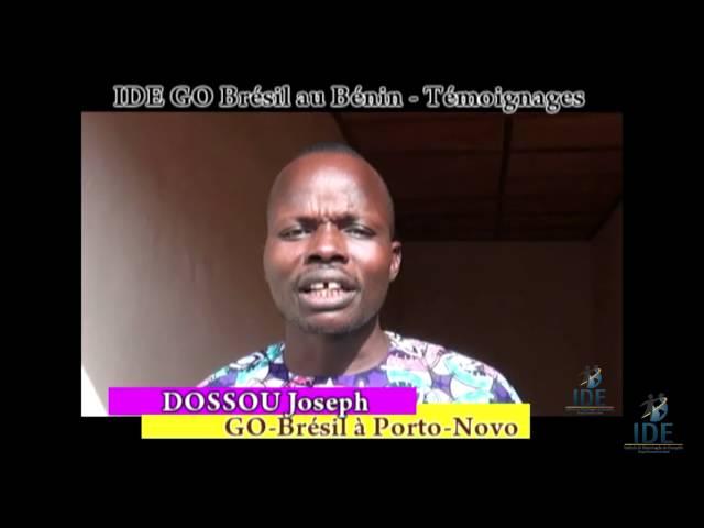 Testemunho Dossou Joseph Projeto Benin - IDE GO