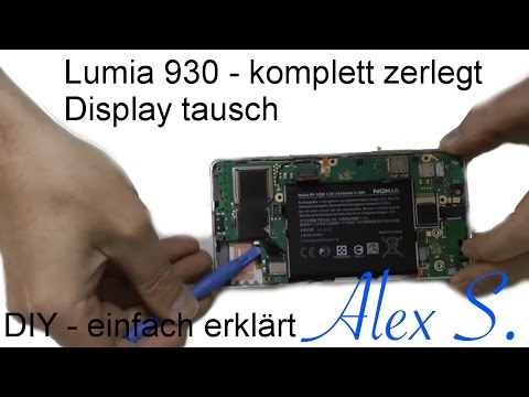 Nokia Lumia 930 Repair guide, Reparatur Anleitung, Disassembly & Assembly Deutsch, Touch, display