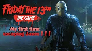 First time escaping jason | Friday the 13 game | Online ps4 gameplay