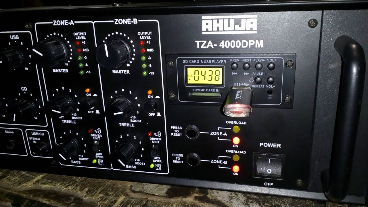 Ahuja TZA 4000DPM Amplifier