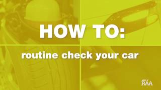 How to routine check your car thumbnail