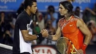 Jo-Wilfried Tsonga VS Rafael Nadal Highlight 2008 AO SF