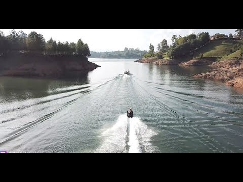 FLYING AT 100 MPH ON A JET SKI IN GUATAPE COLOMBIA!!!