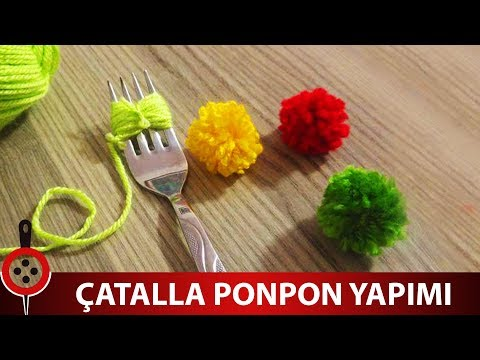 Çatalla Ponpon Nasıl Yapılır ? - Çatalla Pon Pon Yapımı