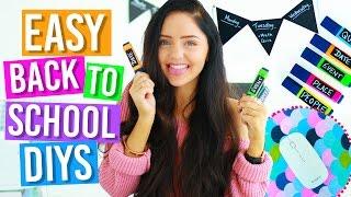 DIY Back To School Supplies! (Room Decor, Organization) 2016. Fun + Easy! DIY Life Hacks!