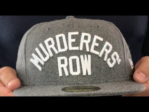 ba2f8711 Yankees 'MURDERERS ROW' Melton Grey Fitted Hat by New Era