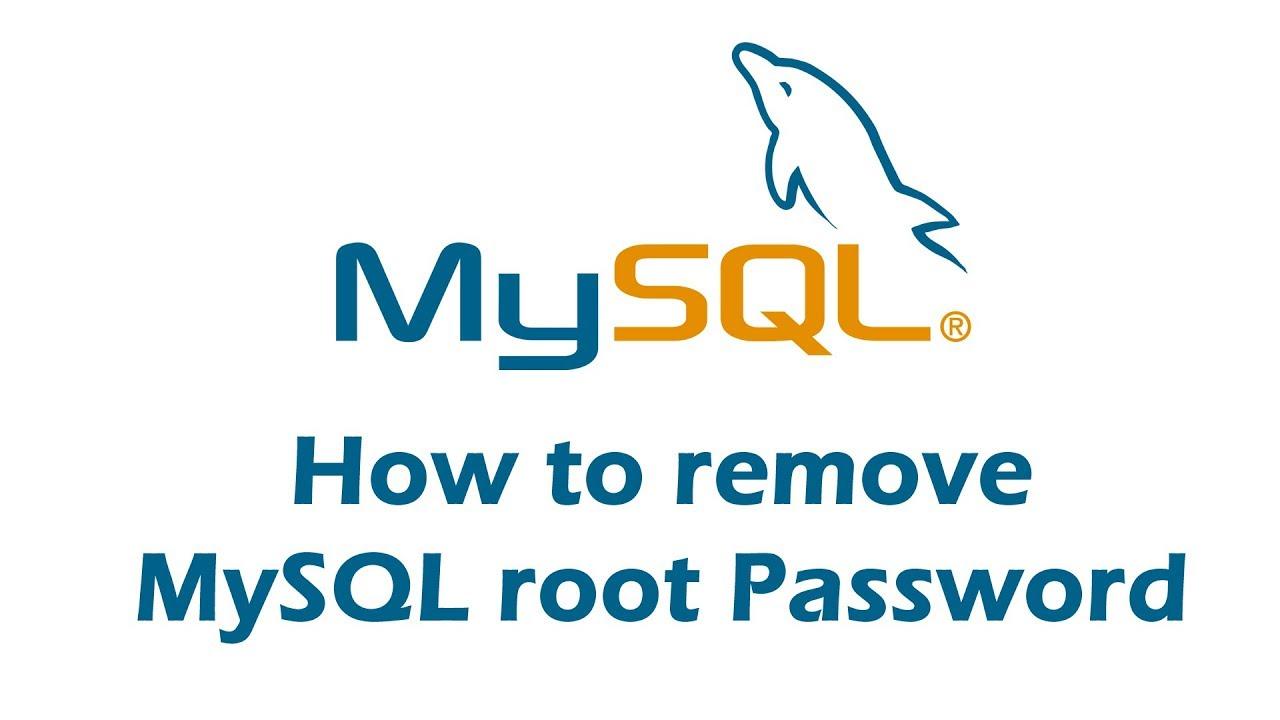 How to remove mysql root password