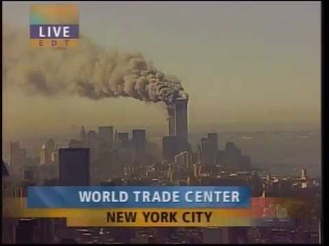 South Tower Becomes Dust on 9/11 - NBC Live Coverage
