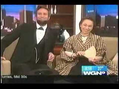 Abraham Lincoln and Mary Todd Lincoln visit WGN Morning News