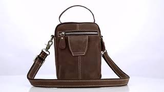 CARANFEIR Genuine Men Messenger Leather Bag Handbag