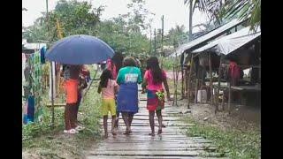 """""""Ya no queremos vivir esta vida"""": indígenas desplazados en Chocó huyen de violentos"""