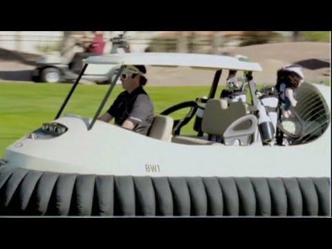 b543c17239f Pro Watson unveils hovercraft golf cart - YouTube