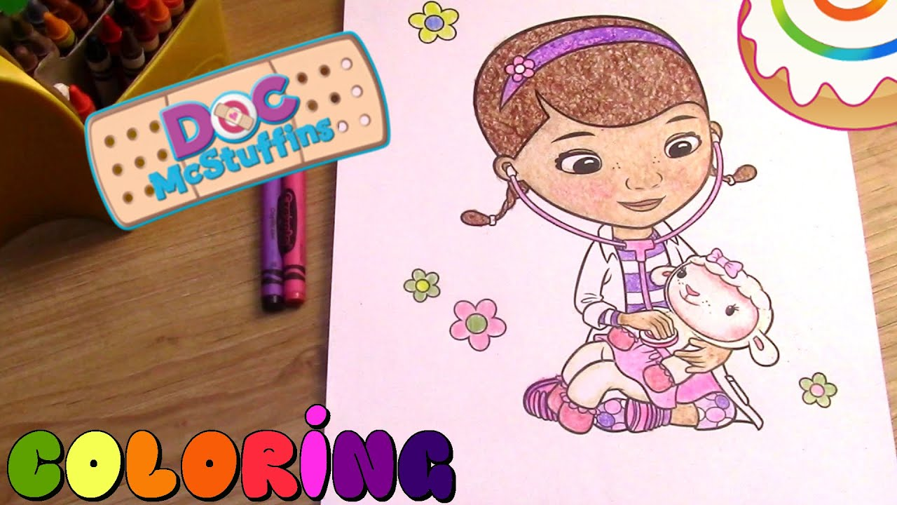 doc mcstuffins coloring page doc mcstuffins youtube