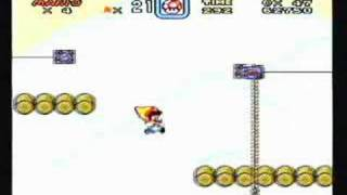 Super Mario World - Secret exit in Cheese Bridge Area