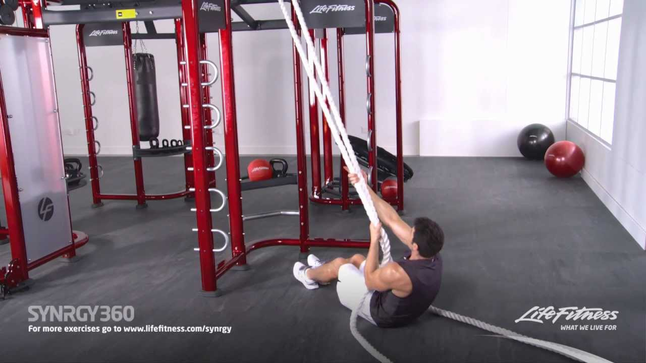 Lying Cable Rope Curls