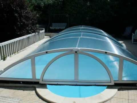 Cubiertas para piscina tecnyvan modelo teide youtube for Cubiertas de piscinas pipor