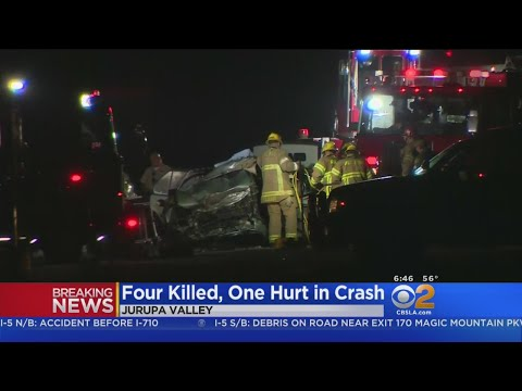 4 Killed, 1 In Critical Condition After Quadruple-Car Crash