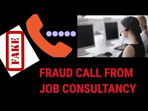 A FAKE CALL FROM JOB CONSULTANCY