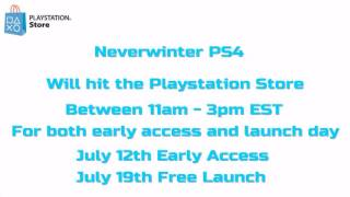 Neverwinter PS4 - What Time Does Neverwinter Hit The Playstation Store?