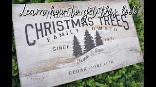 How to distress your wood sign