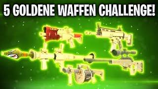 5 GOLDENE WAFFEN IM INVENTAR! 💰 | Fortnite: Battle Royale