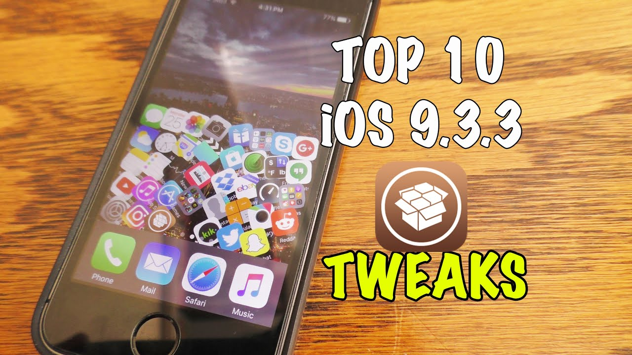 Top 10 Free Cydia Tweaks for iOS 9 3 3 Jailbreak compatible