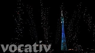 watch 1 000 drones light up the sky