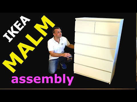 Ikea Malm 6 Chest Of Drawers Embly