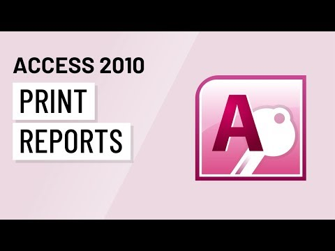 Access 2010: Printing Reports