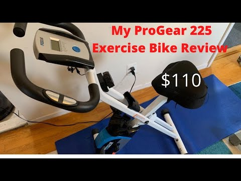 My ProGear 225 Folding Magnetic Upright Exercise Bike with Heart Pulse review!