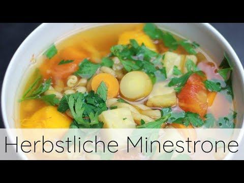 Herbstliche Minestrone | Rezept (HCLF & vegan) 🍲