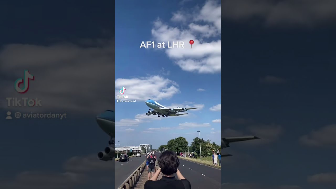 Download Air Force One Landing At Heathrow! #shorts