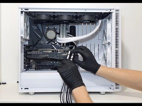 PC Build #17 Black & White ROG Strix In Fractal Design S2 Timelapse