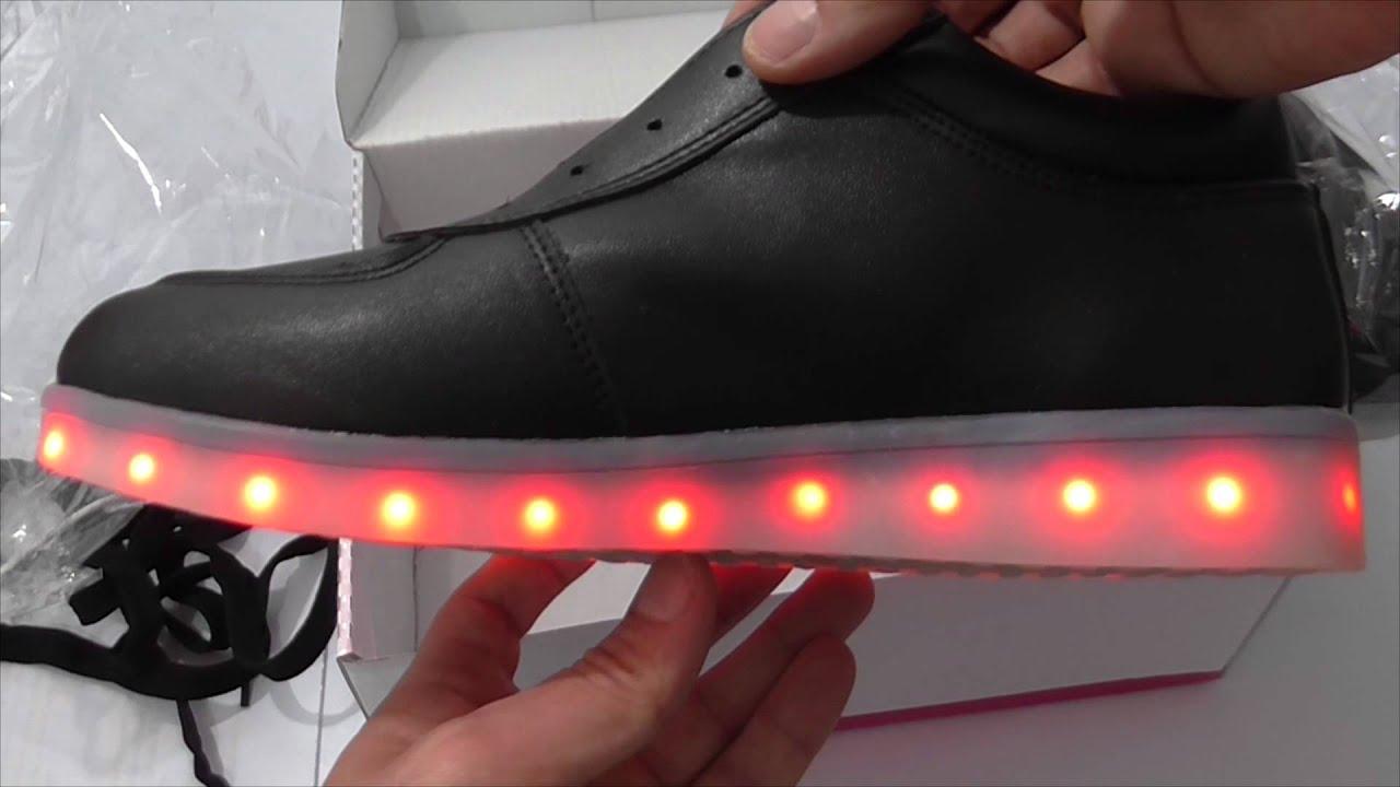 537ac8f00cf Zapatos KIPTOP unisex con iluminación LED - YouTube