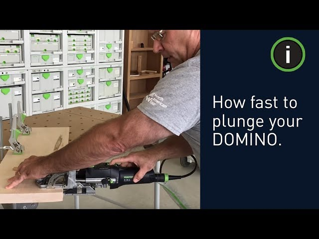 Festool Training: How fast to plunge your DOMINO when making mortises