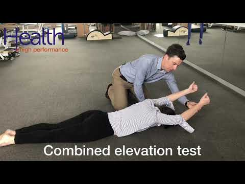 Combined elevation test for shoulder mobility & strength | Melbourne Sports Chiropractor