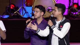 SkinnyIndonesian24 and Being Indians Sahil Khattar @ YouTube FanFest India 2017
