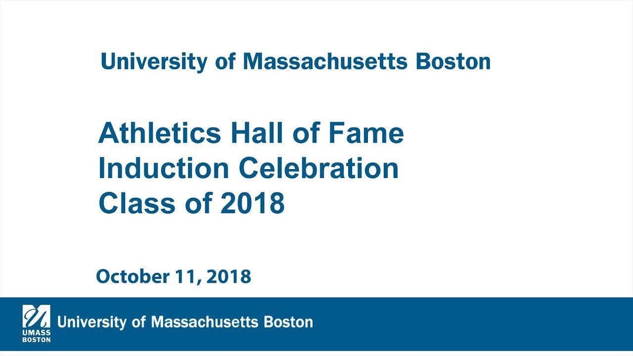 athletics hall of fame induction celebration class of 2018 youtube