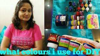 what colours I Use for DIY,DIY  colours,colours for DIY,acrylic,anvesha,s creativity