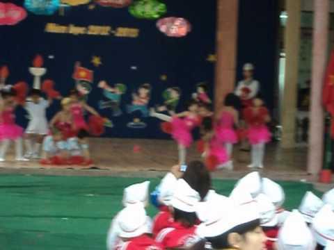 Các bé trường mầm non Tràng Cát nhảy aerobic