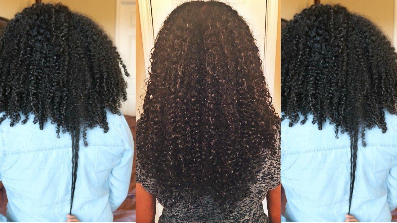 grew long natural hair
