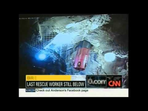 Manuel Gonzalez is the last rescuer out in Chile