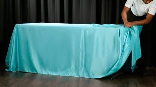 60 Second Drape Tie For Rectangular Tablecloths Youtube