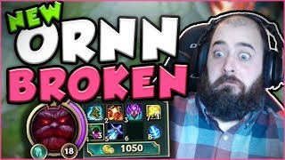 NEW ORNN IS LITERALLY UNKILLABLE IN TOP LANE! NEW ORNN TOP GAMEPLAY SEASON 7! - League of Legends